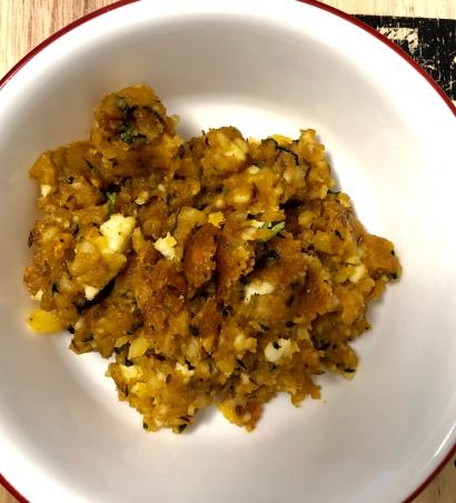 Potato Paneer Stuffing